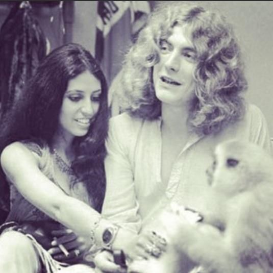 Robert Plant and his wife at the time, Maureen.