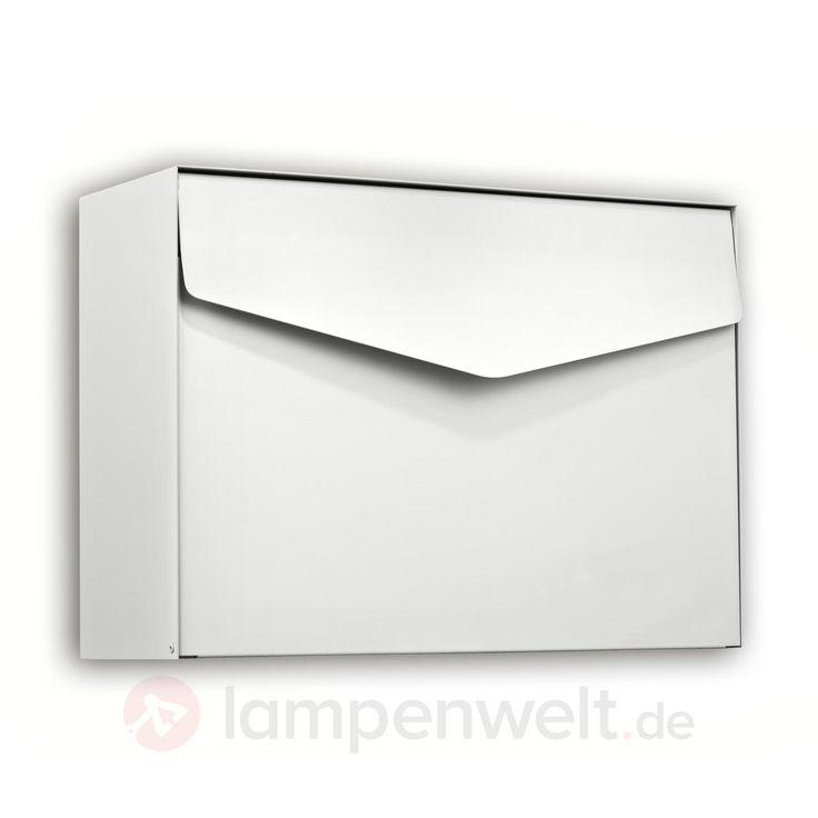 Letter - weißer Briefkasten in schönem Design sicher & bequem online bestellen bei Lampenwelt.de.