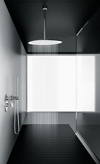 Francesco Lucchese for Fir Italia | Synergy showerhead in white Corian with chrome plating