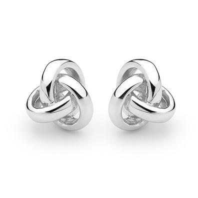 Silver and Some - Georgini Earrings, Love Knot High Shine Stud $99.00