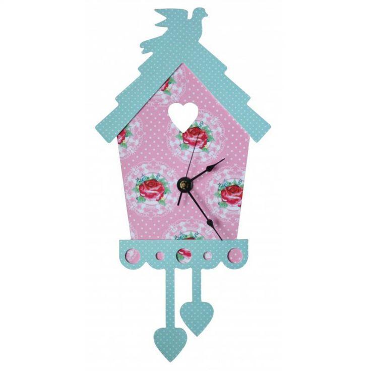 Speelgoed & Lifestyle voor meisjes 4-12 jaar > Accessoires kinderkamer > Webshop Koekoeksklok bloemen roze | Verwende apen