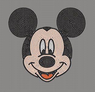 Mickey Mouse Disney Rhinestone Transfer Iron On Wholesale Available on Etsy, $8.95
