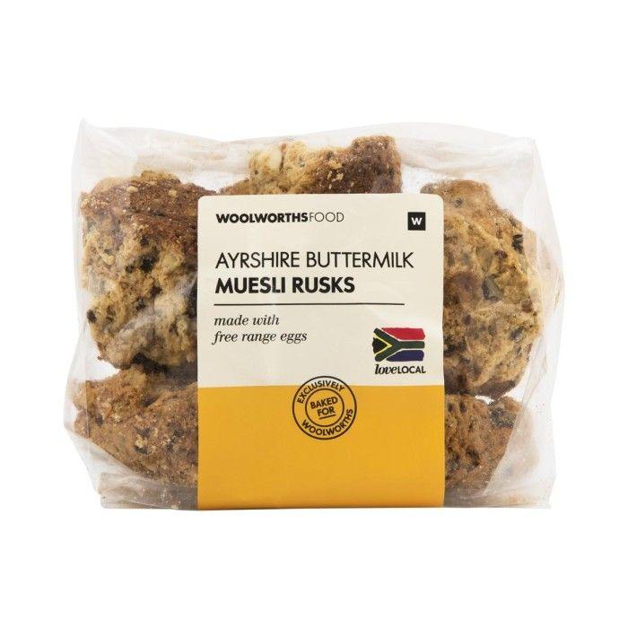 Ayrshire Buttermilk Muesli Rusks 400g Woolworths Co Za Muesli Rusk Baking