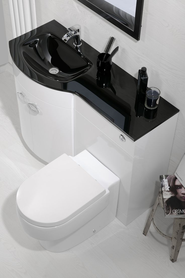 Our New Pebble P Shaped Vanity Set With Black Or White Glass Top Is Causing  A