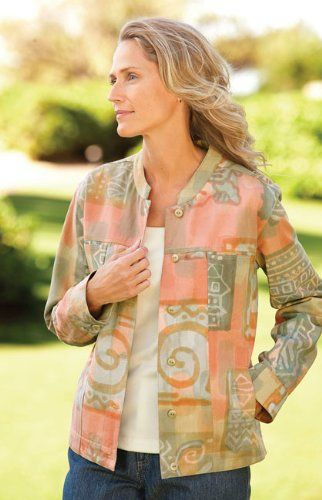 Batik Patchwork Jacket $69.00