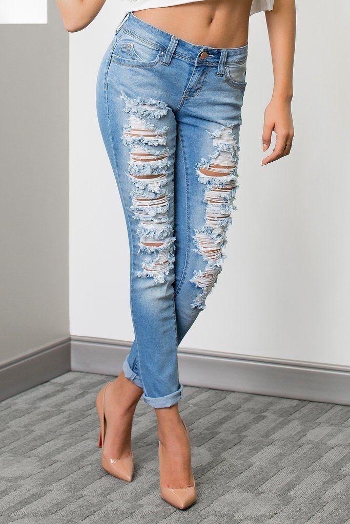 Rip & Tear Skinny Jeans