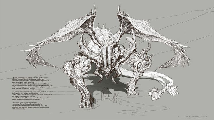 ArtStation - Guild Wars 2-- Mordremoth idea, Carlyn Lim