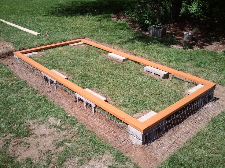 chicken coop trench wire.
