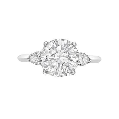 Cartier 3.05 Carat Round Brilliant Diamond Ring by   Cartier