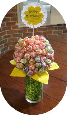 Cute with Dum Dum suckers..Edible Cake Pop Centerpieces   Birthday Party Centerpieces - Ideas For All Ages