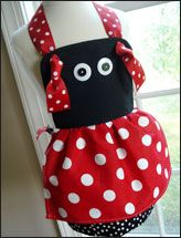 Bumblebee and ladybug aprons - $3.99 - downloadable.  Pattern contains kids sizes 3/4 - 7/8.  So cute for little girls!