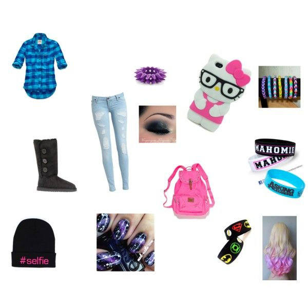 """""""Cute Nerd Outfit/Hair Style/Makeup"""" by myra-belcher on Polyvore"""