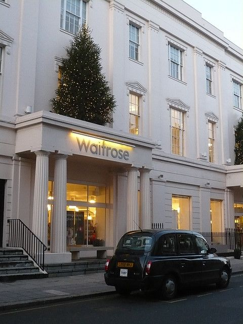If only all supermarkets looked like this! Waitrose Supermarket, Halkin Street, Belgravia / Westminster, London.