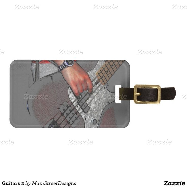 Guitars 2 tag for luggage