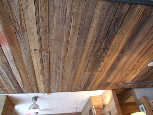 Barn Wood Ceiling For Basement