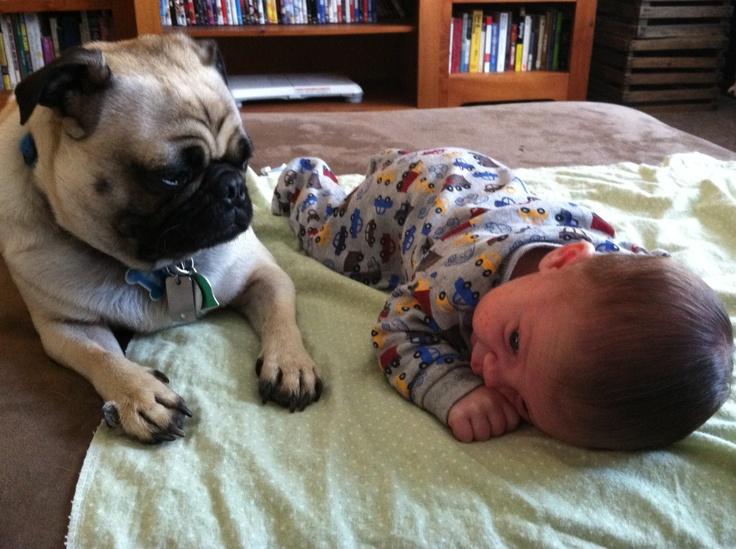I'll watch him ma, you take a nap
