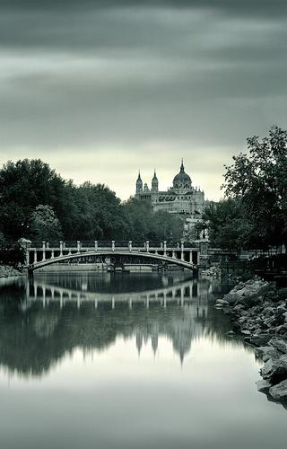 Manzanares River, flows through Madrid, Spain