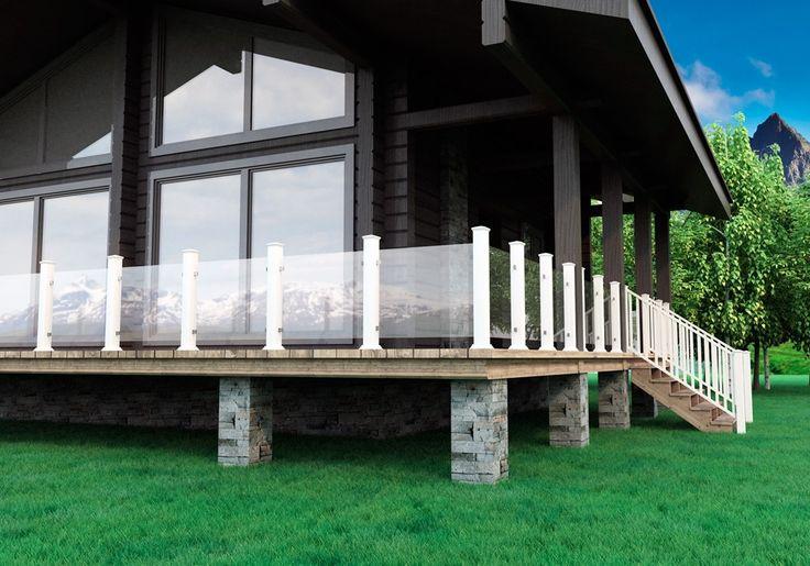 Nå har glassrekkverk blitt rimeligere – og enklere å montere selv - Byggmakker+