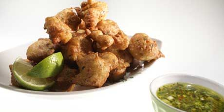 Acras (Cod Fritters) with Dog Sauce