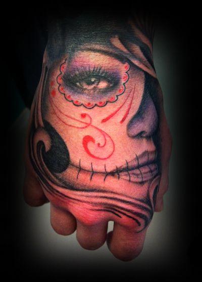 192 besten tattoo sugar skull style bilder auf pinterest totenkopf tattoos la catrina und. Black Bedroom Furniture Sets. Home Design Ideas