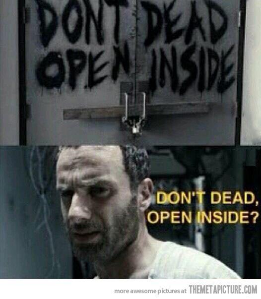 the walking dead funny | funny-The-Walking-Dead-door-closed