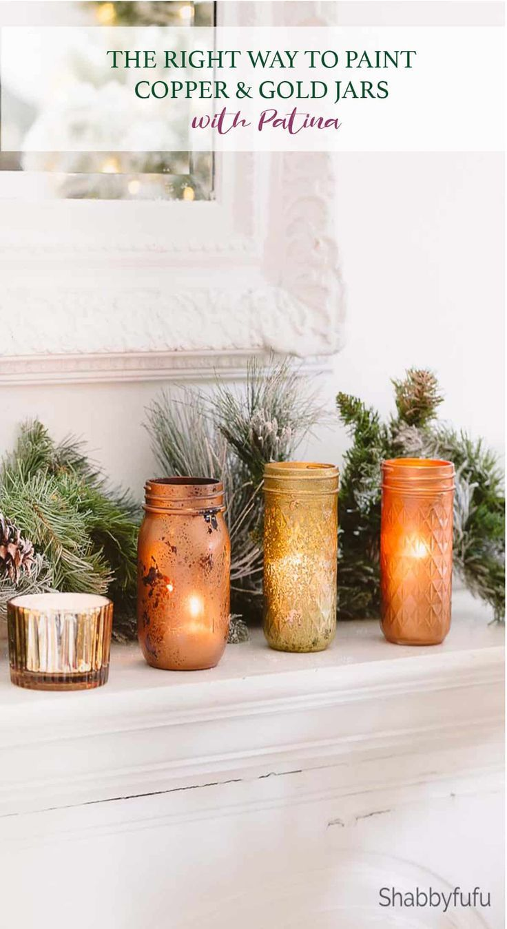 Copper And Gold Mason Jars DIY | BEST Of Christmas Crafts