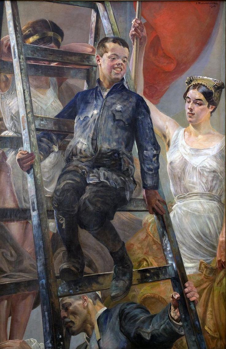 Młoda Polska, 1918, olej, płótno