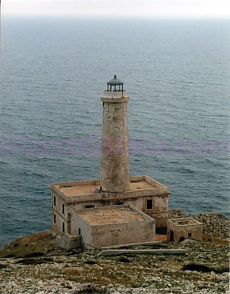 This Lighthouse sits at on the shores of the Adriatic Sea in Italy. No longer working, it marked the entrance into the straight of Otranto.