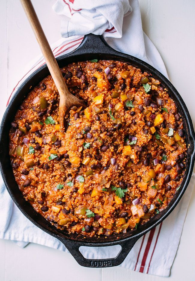 One Skillet Mexican Quinoa (vegan + gluten-free) | Making Thyme for Health