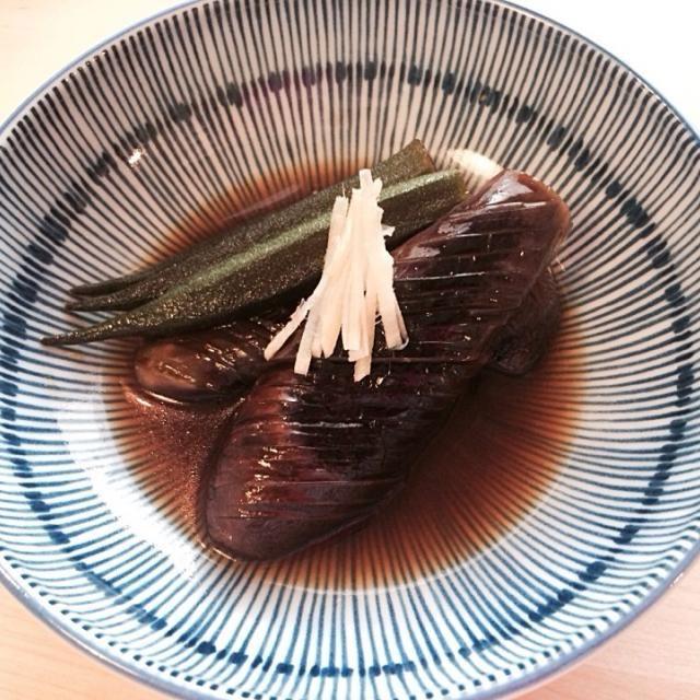 めんつゆレシピ最高だけど、 今回は出汁からつくってみた - 4件のもぐもぐ - なすオクラ煮びたし by mylovesweet66