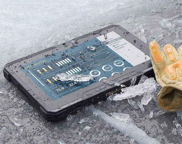 Dell Latitude 12 Rugged Tablet - Built for the use & abuse of military and industrial work, Dell's Latitude 12 Rugged is a tough tablet that can handle mud, dust and sand, four-foot drops, and temps between -20º and 145ºf. It runs on a 5th-gen Intel Core CPU & Windows 8.1. | werd.com