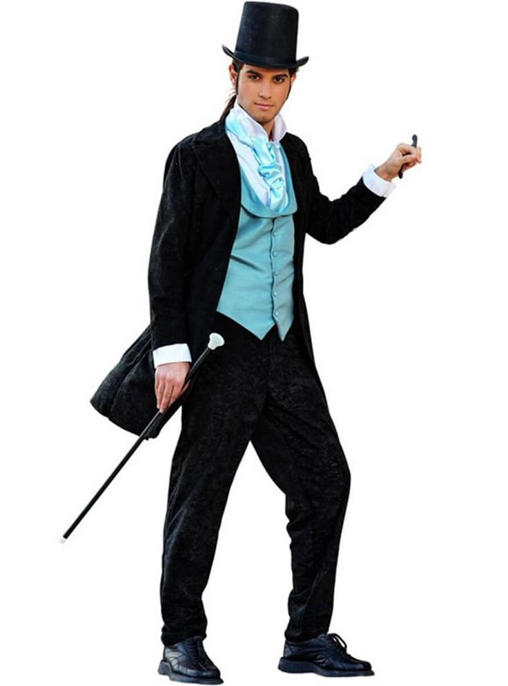 Disfraz de elegante caballero inglés de 1800 para hombre