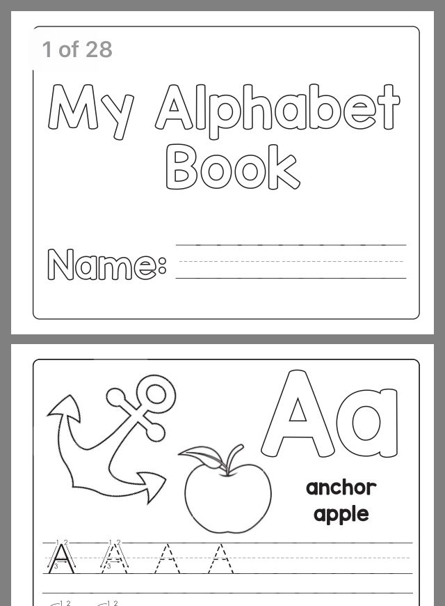 Learning Alphabet Book Letter Writing Practice Abc Worksheets