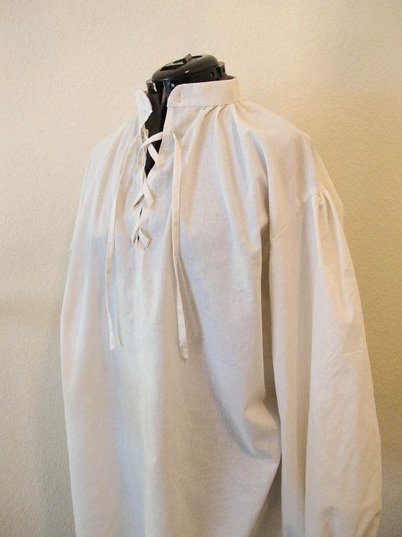Men's Renaissance Shirt Men's Pirate Shirt by SilverLiningSewing, $50.00 comes in green