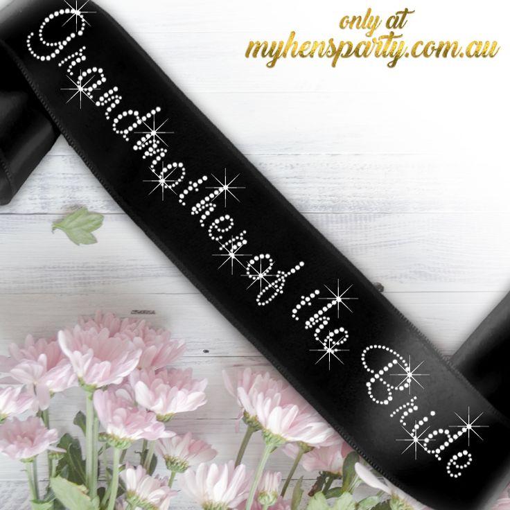 Grandmother of the Bride Sash - Diamante