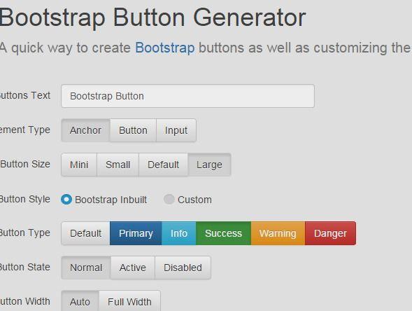 Bootstrap 3 Button Generator