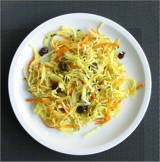 Salade de chou blanc à l'indienne