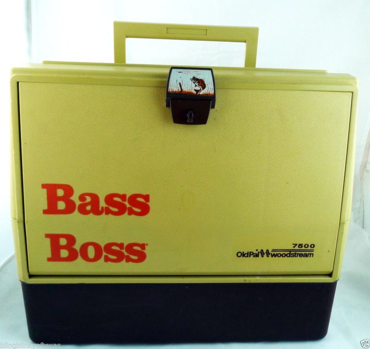 BASS BOSS Old Pal Woodstream 7500 Tackle Chest with Live Well # ...