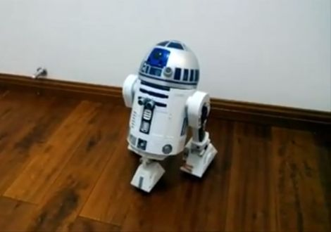Hacked Interactive R2D2 controlled by Raspberry Pi