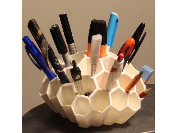 Honeycomb Desk Organizer Pen Holder Pencil Holder Planner