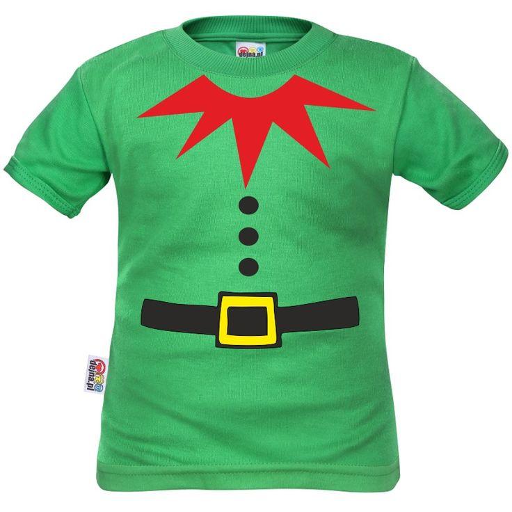 Tee shirt enfant petit lutin de Noël - Vêtements Noël - SiMedio