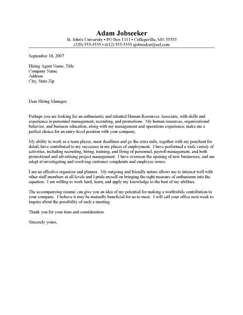 Entry Level Cover Letter Jvwithmenow Post Grad Cover