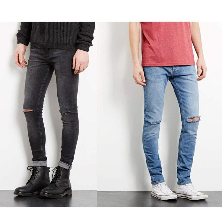 Topman Ripped Spray On Jeans Men   JEANS   Pinterest
