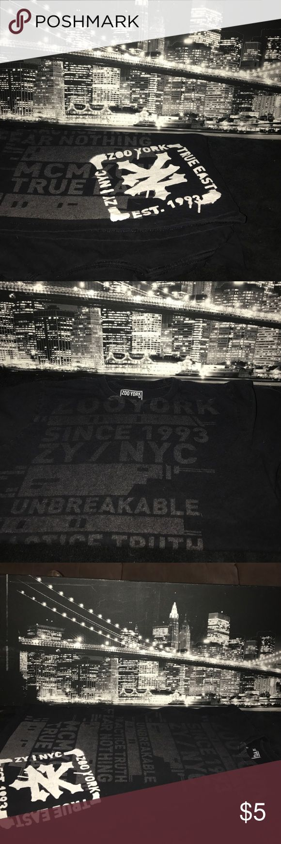Zoo York T Shirt This Zoo York shirt will freshen up anyone's style. Dress to impress and rock this shirt wherever you go. Have fun, live hard, and skate hard. Zooyork!! That is not the slogan, but the slogan I gave them. Enjoy. Zoo York Shirts Tees - Short Sleeve