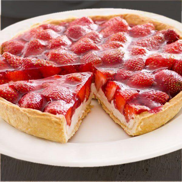 tarta de yogurt y frutillas sin horno