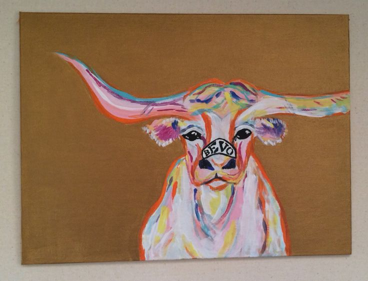 Bevo longhorn wall art university of Texas austin Things I ve Done Pinterest