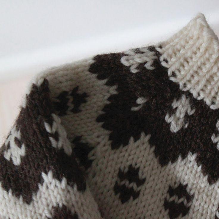 En bonderøvs-sweater fik Karl i fødselsdagsgave af min svigermor som endnu engang har tryllet med pindene…åh den er så lækker og jeg er faktisk ret misundelig!Update:Mønsteret er fra Hendes …