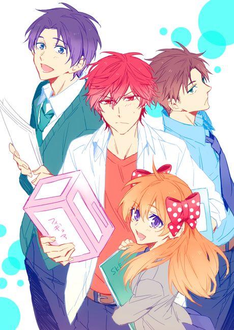 gekkan shoujo nozaki-kun | Wakamatsu, Hori, Mikorin and Sakura