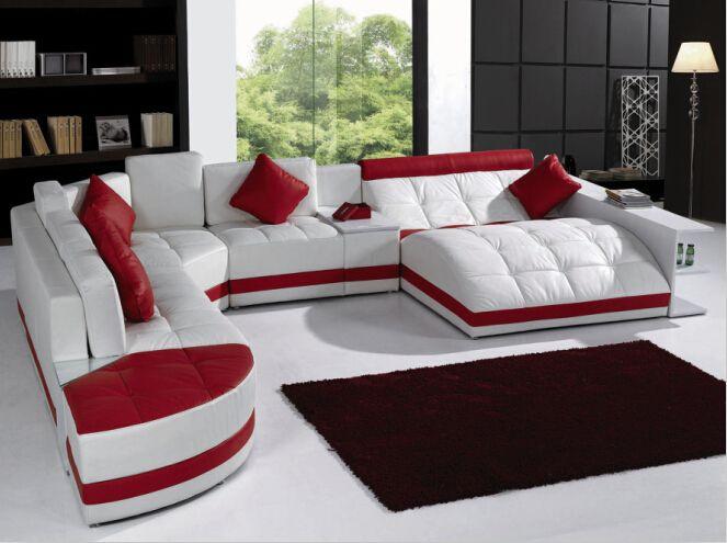 Sofas Für Wohnzimmer Mit Ecke Sofa Leder Für Moderne Sitzgruppe Großen  Ecksofa