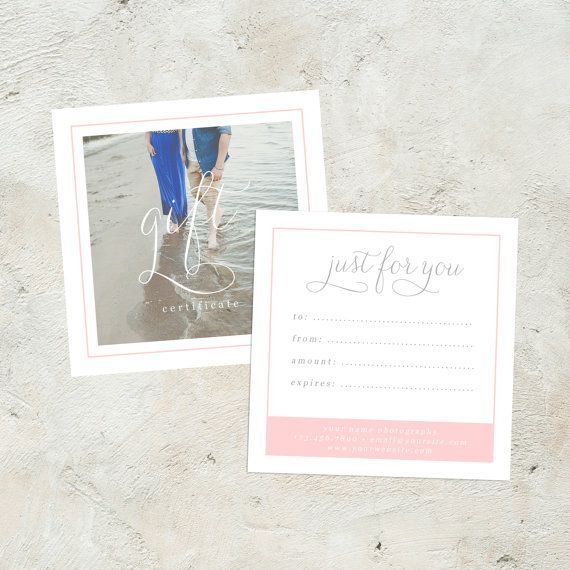 Editable Photography Gift Certificate, Photography Gift Card - editable gift certificate template